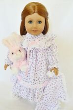"""Doll Clothes AG 18"""" Nightgown Pink Floral Blanket Made To Fit American Girl Doll"""