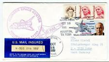 1989 Johnson Center Houston Space Air Mail John Harvard Nimitz INSURED