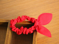 Cute Bunny Ears Shape Red Solid Hair Rope Hair Accessories Rubber Band Color 2