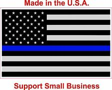 "Police Thin Blue Line American Flag Blue Lives Matter Decal Sticker  3"" x 5"""
