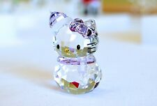 Swarovski Crystal Sanrio Hello Kitty Snowman Puple Bow 1142949 Brand New In Box