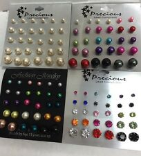 Wholesale lot of 60 Pairs of Assorted Stud Earrings New Jewerly