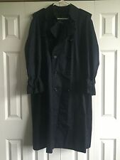 BURBERRY Men's Double Breasted TRENCH Raincoat Coat Navy Blue Size 50 Reg