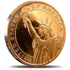 1 oz .999 Fine Copper Art Round  – Statue of Liberty –Beautiful-Proof Like!