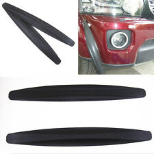 2x Car Bumper Carbon Fiber Protector Corner Guard Strip Anti-Scratch Sticker