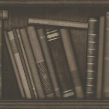 Oxford Atheneum Library Books Wallpaper by Beacon House Chocolate 2604-21231