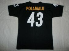 NWOT TROY POLAMALU #43 PITTSBURGH STEELERS NFL AUTHENTIC JERSEY YOUTH BOYS LARGE
