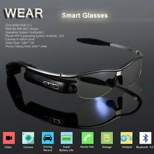WIFI Bluetooth Smart Glasses HD Video Cam Photo Music Recorder For Android/IOS