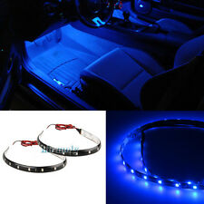 2x 12smd Blue LED Interior Strip Footwell Under Dash Light For Nissan Patrol GU