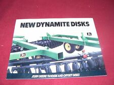 John Deere New Dynamite Disks Dealers Brochure DKA7 88-12