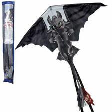 Dragons - Kinder Flugdrache Drachenflieger Ohnezahn 130 x 124 cm