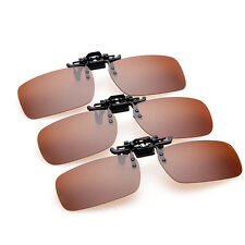 Clip-on Polarized Lens Day Night Vision Driving Glasses Sunglasses Eyewear