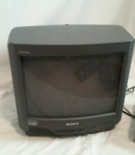"SONY TRINITRON KV13M42 13"" CRT COLOR GAMING TV TELEVISION MONITOR CCTV"