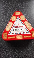 Huntley & Palmers Triangle Cocktail Biscuit Tin
