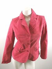 NEWPORT NEWS WOMENS PINK SUEDE LEATHER JACKET SIZE 4