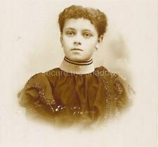 CABINET CARD PHOTO: EXQUISITE Black AFRICAN CANADIAN Adolescent GIRL, QUEBEC