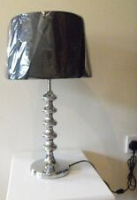 Chrome and Black Table Lamp- Inspire by  Argos BNIB