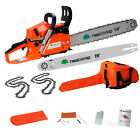 """58cc Petrol Chainsaw with 16"""" & 20"""" Chains and Bars. TIMBERPRO Chain Saw Kit"""