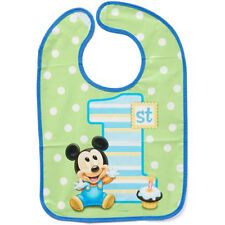 MICKEY MOUSE 1st BIRTHDAY BABY BIB ~ Disney First Party Supplies Favors Boy