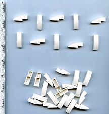 LEGO x 30 White Slope, Curved 3 x 1 No Studs NEW 50950