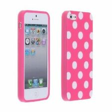 Polka Flex Gel Dot Case for iPhone 5 / 5S - Pink