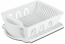 Sterlite Medium Size Sink Dish Rack Drainer (White)
