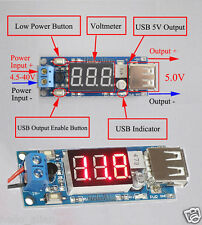 DC-DC Buck Voltage konverter 4.5-40V 12V To 5V/2A Step-down LED Voltmeter USB