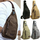 Men Small Canvas Military Messenger Shoulder Travel Hiking Bag Backpack New  DI