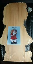 Santa Claus With bag Unfinished Wood Shape Cut Out country woodshop #333