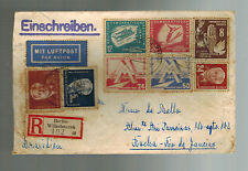1951 Berlin East Germany DDR Cover to Brazil # 76-79 72 57 57A