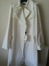 NWT $1320 DOLCE & GABBANA D&G White Button Trench Coat Jacket s. IT42/ US Large