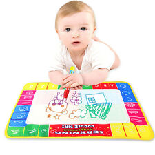Baby Kids Children Aqua Doodle Toys 1 Painting Mat + 2 Water Drawing Pen HOT