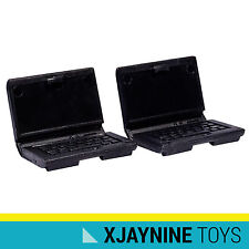 LEGO Minifig Accessory Black Computer Laptop Two Pack NEW SUPER RARE
