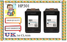 2 Remanufactured hp301 High Capacity& Quality Inkjet Cartridges hp nonoriginal