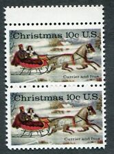 Error 1551  Guttersnipe pair. Christmas, Currier & Ives 10 cent. Issued in 1974.