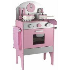 Conjunto de Cocina-de Madera Juego de cocina de juego imaginario incluso los accesorios-color Rosa