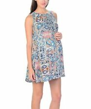 NWT Anthropologie Pleated Scoop Neck Maternity Shift Dress Large L 10 12 Geo