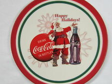 "Coca-Cola 8"" Christmas Plate - ""Happy Holidays!"""