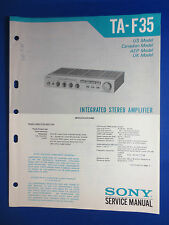 SONY TA-F35 INTEGRATED AMPLIFIER SERVICE MANUAL FACTORY ORIGINAL
