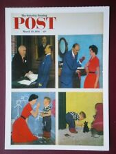 POSTCARD ADVERT SATURDAY EVENING POST F/PAGE  DATED 20 MARCH 1954  - THE JOY OF
