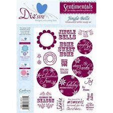 New - Crafter's Companion - Rubber Stamps - Sentimentals - Jingle Bells