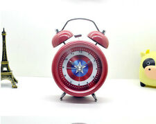 3-inch Silent Vintage Metal Desk Clock Double Bell Table Alarm Clock Red