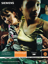 PUBLICITE ADVERTISING 045  2000  SIEMENS  téléphone  portable C 35i