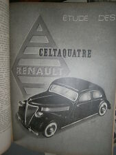 Renault CELTAQUATRE : revue technique RTA 100