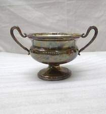VINTAGE GREGGIO TORINO ITALY ITALIAN STERLING SILVER HANDLED PEDESTAL DISH 151g