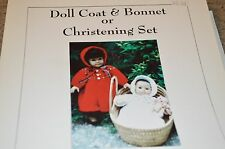 Idle Hands Knitting Pattern 116 Doll Coat or Christening Set American Girl 15-18