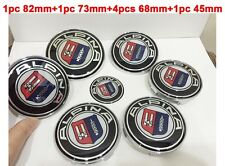 7pcs/Set ALPINA Hood Trunk Steering Emblem Badge Wheel Center Hub Caps for BMW