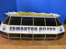 "TIFFANY 40"" NHL EDMONTON OILERS HOCKEY STAINED GLASS LAMP BILLIARD LIGHT MSR$578"