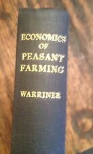 Economics of PEASANT FARMING 1939 Warriner AGRICULTURE EUROPE Free US Shipping