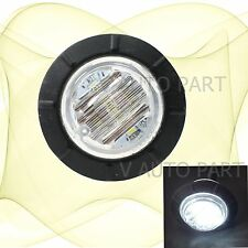 "12V White 1-1/4"" Round Side Light 6 LED Marker Waterproof Lamp Trailer Caravan"